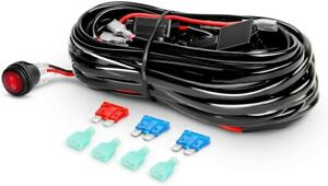 12ft Off road Led Work Light Bar Wiring Harness Kit 12v Fuse Relay On off Switch