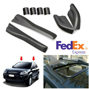 For Hyundai Tucson 2004 2008 Roof Rack Rail End Cover Shell Replacement Black Us