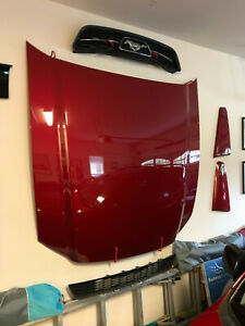 2013 Ford Mustang Oem Hood Red Candy Metallic Excellent Condition