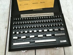 Ttc 81 Piece Gauge Block Set Grade B W Wooden Box