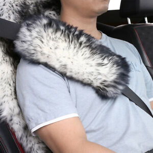 2pack Long Wool Sheepskin Seat Belt Covers Seatbelt Pads Covers For Adults Kids