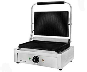 Chef s Supreme Commercial Panini Grill Cooking Sandwich Press
