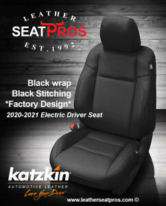 Katzkin Leather Seat Covers 2020 21 Toyota Tacoma Double Cab Black Factory Match