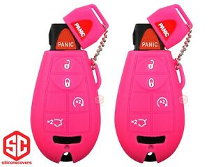 2x New Key Fob Remote Fobik Silicone Cover Fit For Jeep Commander G Cherokee