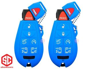 2x New Key Fob Remote Fobik Silicone Cover Fit For Chrysler Dodge Vw