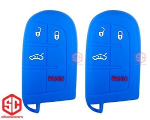 2x New Key Fob Remote Fobik Silicone Cover Fit For Dodge Jeep