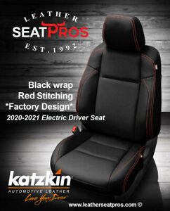 Katzkin Leather Seat Covers 2020 21 Toyota Tacoma Double Cab Black Red Stitching