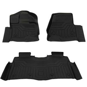 Floor Mats Liners Carpet For 2015 16 17 18 19 2020 Ford F150 Supercab Black