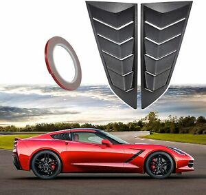 Side Window Louvers Cover Sun Shade Scoop Hood Vent For 2014 2019 C7 Corvette