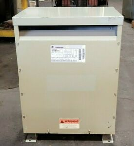 Ge 45 Kva Dry Type Transformer 480 Primary 208 120 Secondary 3 Phase 9t23b3873