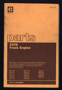Caterpillar Truck Engine 3208 Vin 32y1 32y68440 Sebp 1237 Parts Manual