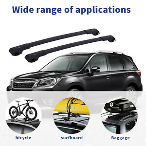 Cross Bar Top Roof Rack Carrier Fit 14 19 Subaru Forester Impreza Us Stock