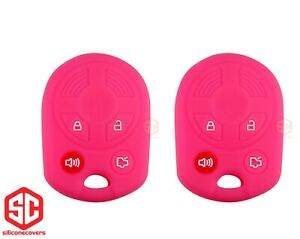 2x New Key Fob Remote Fobik Silicone Cover Fit For Ford Lincoln Mercury Mazda