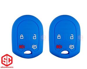 2x New Keyfob Remote Fobik Silicone Cover Fit For Select Ford Lincoln Vehicles