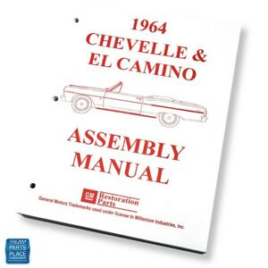 1964 Chevelle El Camino Factory Gm Assembly Manual Each