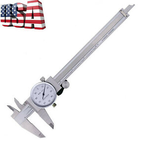 Dial Caliper 6 150mm Dual Reading Scale Metric Sae Standard Inch Mm Shockproof