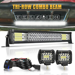 For Offroad 2011 2016 Ford F250 F350 22inch 306w Led Light Bar Flood Spot Combo
