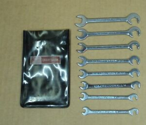 Lot 8 Pc Sears Craftsman V Series Ignition Midget Combination Wrench Set 9 4306