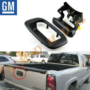 New Gm Rear Tailgate Handle Bezel Set For 1999 2006 Chevy Silverado Gmc Sierra