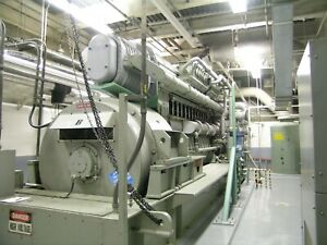 Fairbanks Morse 3mw Diesel Fuel Generator Set Former Standby For Power Plant
