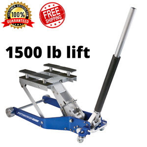 1500 Lb Capacity Atv Motorcycle Lift Jack Pump Hydraulic Low Profile 17 In