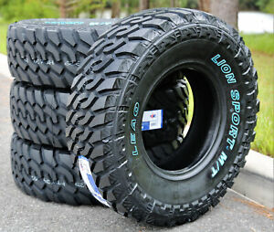 4 New Leao Lion Sport Mt Lt 35x12 50r20 Load F 12 Ply M t Mud Tires