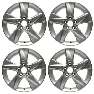 New Set Of 4 17 X 7 5 Silver Replacement Wheel Rim For 2009 2010 Acura Tsx