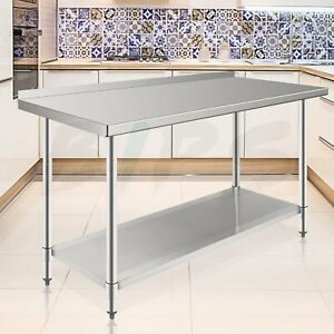 24 X 60 Nsf Stainless Steel Commercial Prep Work Food Table With Backsplash