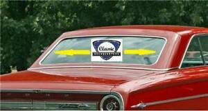 1963 64 Ford Galaxie Fastback Rear Window Glass Molding Set New Reproduction
