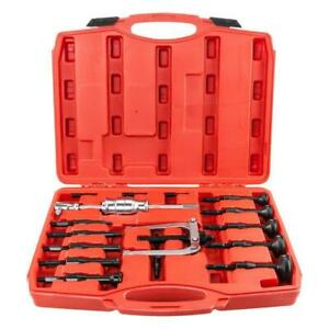 16pcs Blind Hole Pilot Internal Extractor Remover Bearing Puller Set W Red Case
