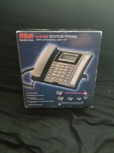 Rca 25414re3 Executive Series 4 Line System Corded Phone With Caller Id Open Box