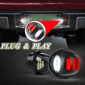 2x Red Neon Tube Led License Plate Light Lamp For Ford F150 F250 F350 1999 2016