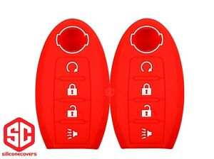 2x New Keyfob Remote Fobik Silicone Cover Fit For Select Nissan Vehicles