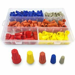 220 Pcs Electrical Wire Connectors Screw Terminals Assortment Nuts Spring Awg