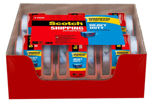 Scotch 3850 Tape Heavy Duty Packaging Tape 1 88 X 66 66 Ft Clear 6 pack New
