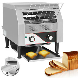 Electric 110v Commercial Conveyor Toaster Restaurant Equipment Bread Bagel Food
