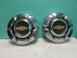 Two Vintage Chevrolet Pickup Truck Blazer Hubcaps Wheel Covers 1 2 Ton 2 Caps