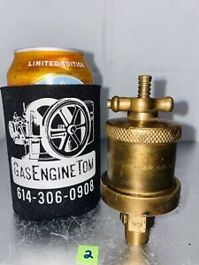 Lunkenheimer No 1 T handle Automatic Brass Grease Cup Oiler Hit Miss Vintage