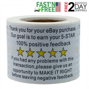 200x Ebay Thank You For Your Purchase Stickers Shipping Labels New