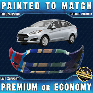 New Painted To Match Front Bumper Replacement For 2014 2019 Ford Fiesta 14 19