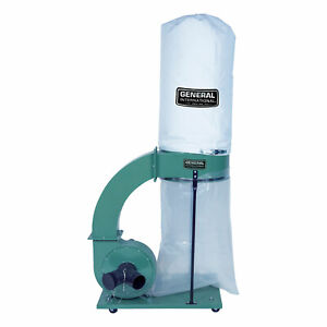 General International 1 5 Hp 14 Amp Commercial Dust Collector With 2 Micron Bag