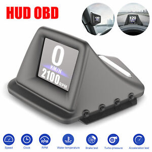Universal Car Obd Gps Speedometer Mph Km H Hud Hd Display Overspeed Warning