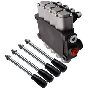 4 Spool Hydraulic Control Valve 11 Gpm Adjustable Release Valve Tractors Loaders