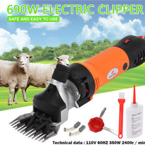 690w Electric Supplies Sheep Goat Shears Animal Shearing Grooming Clipper Us