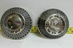 Oem Ford Set Of 2 10 5 Dog Dish Hub Caps 1965 Galaxie 427 Fairlane Wrct