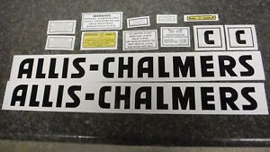 Allis Chalmers Model C Decal Set All Decals On Tractor See Details Pics