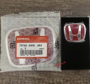 Type R H Emblem Red Jdm Style Honda Civic Accord Front Steering Badge Emblem