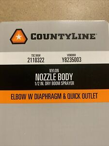 Countyline 1 2 Dry Boom Sprayer Elbow With Diaphragm Quick Outlet