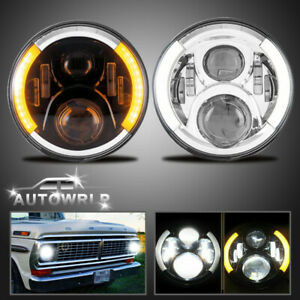 7 Halo Led Headlights W Turn Signal For 1953 1977 Ford F 100 F 250 F 350 Pickup