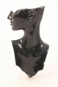 Jewellery Display Bust Necklace Earring Jewelry Display Stand Head Black